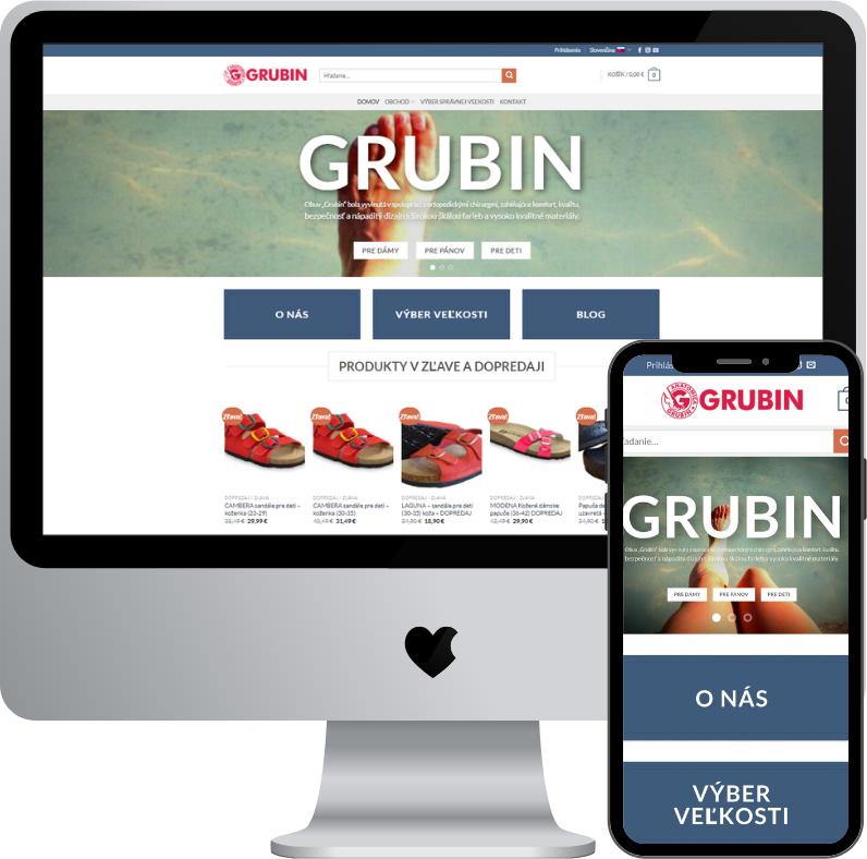 E-SHOP s kvalitnou anatomickou obuvou GRUBIN