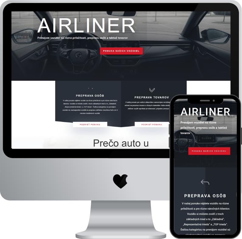 airliner.sk | krátkodobý prenájom motorových vozidiel